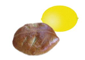 大山紅茶レモンチーズクリームパン